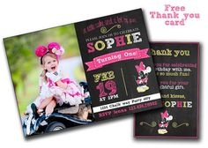 Minnie Invitation Minnie Mouse Invitation by PrintablesToYou