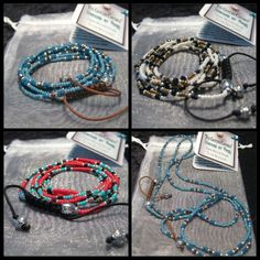 """EGC """"Tranquility Beads"""" Necklace/Bracelet with Seed Beads & Crystals #EyeGotchaCovered #Love #Peace #Namasté"""
