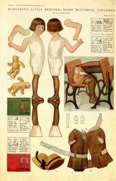 Vintage Magazine Paper Dolls