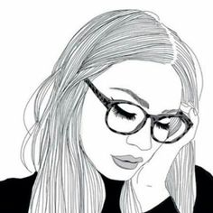 Chicas, dibujos, and outline image Tumblr Outline, Outline Images, Outline Art, Outline Drawings, Cute Drawings, Drawing Sketches, Girl Drawings, Drawing Ideas, Sketching