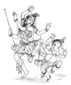 Ganesha Sketch, Ganesha Drawing, Lord Ganesha Paintings, Lord Shiva Painting, Ganesha Art, Krishna Painting, Ganesh Idol, Arte Shiva, Shiva Art