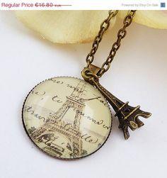 Halskette mit Eiffelturm Paris Halskette Brief von Schmucktruhe, €15.12
