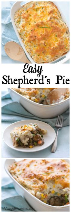 Easy Shepherd's Pie is another great dinner meal. No need to make extra sides, everything you need for dinner is in this Easy Shepherd's Pie.