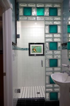 half wall shower small bathroom - Google Search