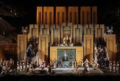 Nabucco from Arena di Verona. Production by Gianfranco de Bosio. Sets by Rinaldo Olivieri.