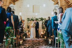 A gorgeous floral ceremony for Kate & Dietrich's wedding last year. Floristry by Stems Design