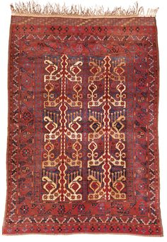 An Ersari Beshir rug, South Turkestan apron. 6ft. 1in. by 4ft. 6in. late 19th century   sotheby's n09323lot73zdlen