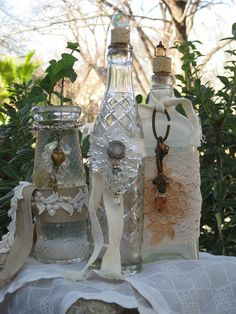 altered bottles - this link has many pictures of different kinds of altered bottles