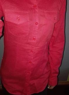 Kup mój przedmiot na #vintedpl http://www.vinted.pl/damska-odziez/koszule/9821811-czerwona-koszula-z-podwijanymi-rekawami