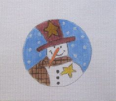 Primitive Snowman w/Stars Christmas Handpainted by MarsyesShoppe