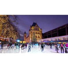 Ice skating in London ❤ liked on Polyvore