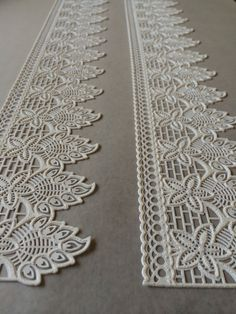 WHITE Cake Lace 3D Edible Lace Gatsby- Wedding - Antique - Art Deco - Vintage Style Sugar Lace