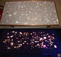 Glowing terrazzo floor finishing events in 2019 - Glow in the dark resin table ...
