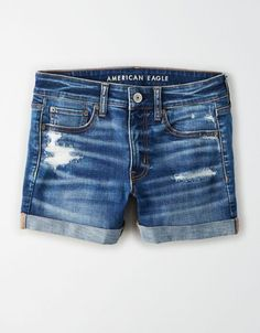 Shop Shorts for Women at American Eagle for styles like curvy, high-waisted, mom shorts & more. Cute Shorts, Casual Shorts, Denim Shorts, Short Shorts, Cute Summer Outfits, Short Outfits, Cute Outfits, Cute Ripped Jeans, American Eagle Dress