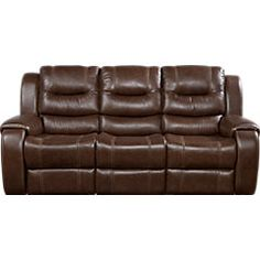 picture of Veneto Brown Leather Power Reclining Sofa  from Leather Sofas Furniture