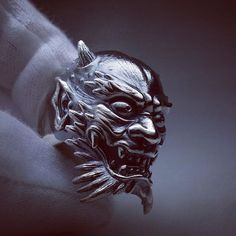 """Oni / two horns"" size AU Q #horiyoshi3 #oni #ring #sculpture #jewelry #creepjewelry"