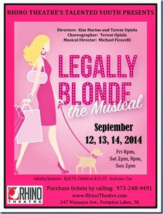 New Jersey Footlights: Rhino Theatre's teen performance of 'Legally Blond...