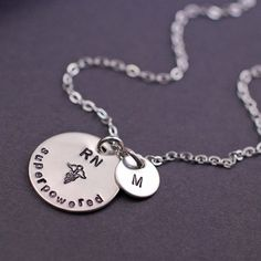 Personalized Nurse Necklace - For all the amazing nurses in my life!  Especially grateful after my daughter was so sick in the hospital with pneumonia last week.  The nurses were absolutely amazing!