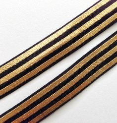 "5/8"" Black & Gold Stripes"
