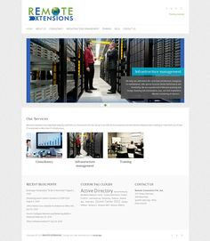 IT Services company website.