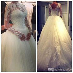 2015 Fall White/Ivory Lace Long Sleeves Wedding Dresses Bridal Gowns Plus Size