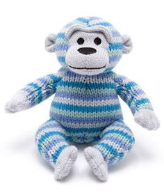 Best Years Knitted Monkey Rattle Description A hand knitted monkey with inner rattle. This monkey is ethically sourced. 100% Acrylic with 100% Polyester fiber stuffing.