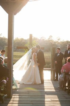 wedding ceremony at the Cotton Dock at Boone Hall Plantation | Jennings King #wedding