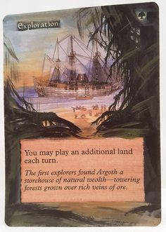 Exploration This Is Only One Of My Altered Cards From This Weeks Batch! To See Them All Go To   http://stores.ebay.com/MTGAlteredMagicCards #MTG #MtgAltered #MtgAlteredArt #MtgHandPainted #MtgExtendedArt #Magic #MagicTheGathering #MtgAlter #Wotc #Scg #Tcg