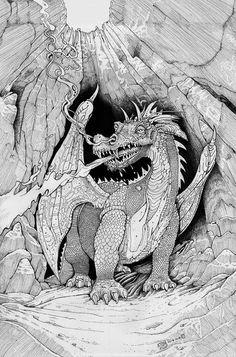 Russ Nicholson - Red Dragon