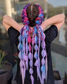 Different Kinds of Hairstyles for Women That on Trend – Page 12 of 20 – Fashion – Best Hair Style Models Bohemian Hairstyles, Ponytail Hairstyles, Pretty Hairstyles, Rave Hair, Braids With Extensions, Cool Hair Color, Hair Colour, Festival Outfits, Braid Styles