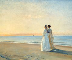 Marie and Anna, 1908 ~ Michael Peter Ancher ~ (Danish: 1849-1927)