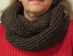 Basic twisted cowl scarf free #crochet pattern from My Recycled Bags