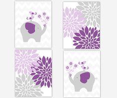 Purple Baby Girl Nursery Wall Art Lavender by DezignerheartDesigns