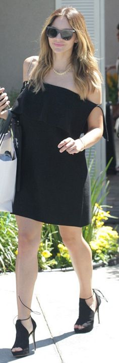 Who made Katherine McPhee's black off the shoulder top?