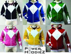 Power Ranger Hoodies