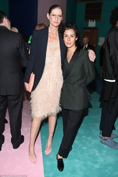 Having a great time: Jenna Lyons and Roberta Colindrez chose blazers for the CFDA Fashion Awards this year