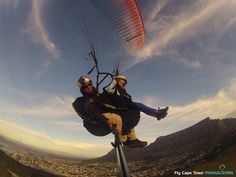 Tandem Paragliding with Fly Cape Town offers you the opportunity to see Cape Town from another angle. Paragliding, Tandem, Cape Town, Adventure, Kids, Young Children, Children, Kid, Children's Comics