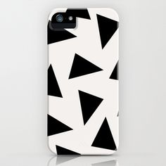 Black Triangle Pattern II Case  by Georgiana Paraschiv