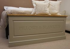 blanket box in a choice of colours by chatsworth cabinets | notonthehighstreet.com £350