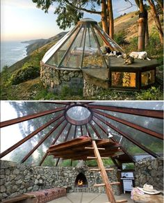 I Love Unique Home Architecture. Simply stunning architecture engineering full of charisma nature love. The works of architecture shows the harmony within. Glamping, My Dream Home, Dream Big, Future House, Interior And Exterior, Yurt Interior, Rustic Exterior, Simple Interior, Apartment Interior