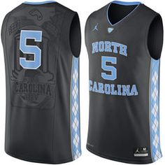 644097458000 North Carolina Tar Heels 21 Seventh Woods Black College Basketball Jersey