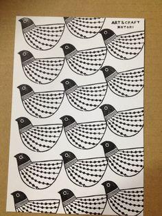 植物と鳥のモチーフで の画像|ART & CRAFT KOTORIの消しゴムはんこ