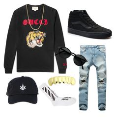 """Untitled #37"" by sebastian-james ❤ liked on Polyvore featuring Gucci, Vans, John Hardy, Palm Angels and Off-White"