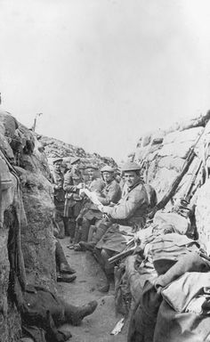 Black Watch in typical WW1 trench