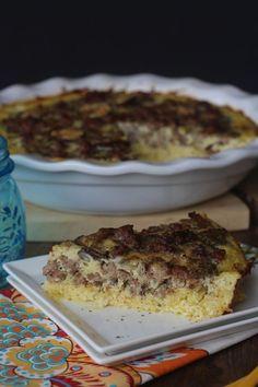#paleo Spaghetti Squash Crusted Quiche