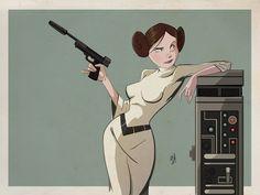 Princess Leia by DaveBardin.deviantart.com on @deviantART