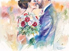 Wedding Anniversary Gift Personalized Gifts: Custom Portrait