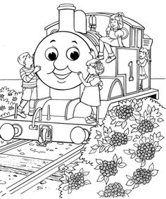 Amazing Train Coloring Pages Free Thomas The With