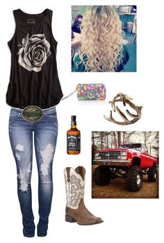 """""""Heartache on the dancefloor"""" by itsyagirlhar on Polyvore featuring Ariat, Vera Bradley and Lucky Brand"""