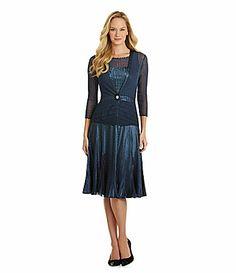 Komarov 2Piece IllusionYoke Jacket Dress #Dillards